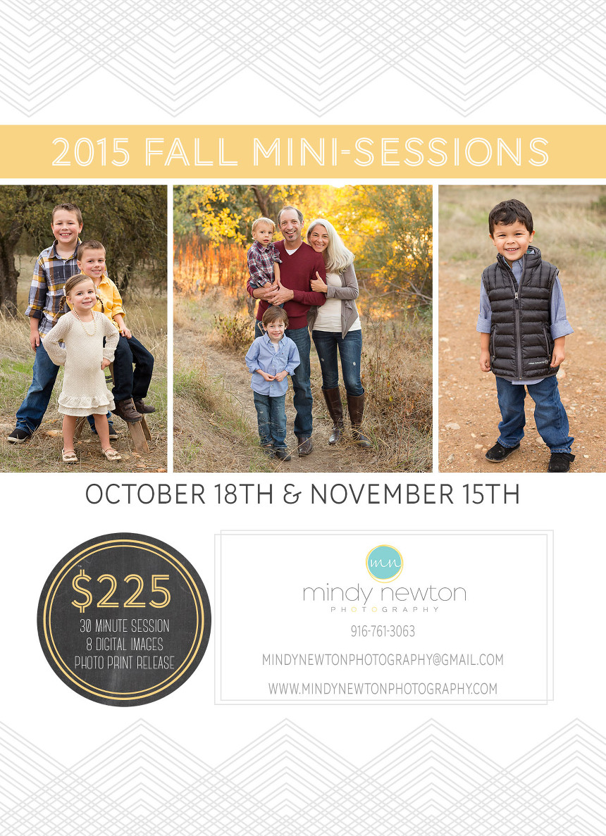 Sacramento Fall Mini-Session Photographer
